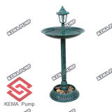 Plastica pp Standing Bird Bath con Solar Light
