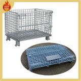 Faltender Metalldraht-Ineinander greifen-Vorratsbehälter-Rahmen mit Rädern
