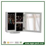 Mesa giratoria de madera con gabinete de almacenamiento de joyas con espejo