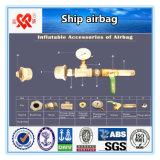 Levage de navires et lancement d'un Airbag Marine gonflable