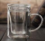 400ml de Kop van de Thee van het glas met het Glas van de Thee van het Bureau van de Mok van het Glas van de Gift van het Festival van de Filter