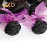 自然で黒いベトナムのバージンの毛の緩い波のDyeableの毛