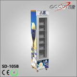 Portão de vidro único portátil Vertical Grande armazenamento Ice Cream Freezing Showcase