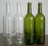 Botella de 750 ml de vino antiguo Rojo Verde