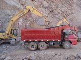 Sinotruk Hova 6X4 336HPの60tによって鉱山使用されるダンプトラック60t-80t