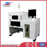 Máquina de solda a laser de transmissão de fibra óptica com estações de trabalho de cabeça dupla