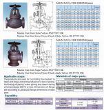 10K JIS7307 Acessórios para tubos de ferro fundido Marinho válvula globo