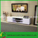 白いカラーシンプルな設計の安い現代キャビネットTVのキャビネット