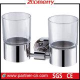 Acero inoxidable y Frost doble de cristal del vaso (06-3001)