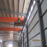 Structure d'acier haute résistance préfabriqués avec grue de construction de l'atelier