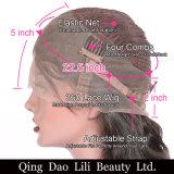 360 perruques de face de lacet pour des femmes de couleur pré ont plumé directement les perruques brésiliennes de cheveux humains du cheveu 100% de Remy de densité de 150%