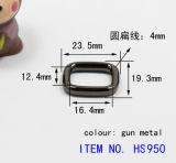 Liga de zinco elegante caixa de travamento de cinto oval de Hardware