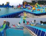 Het rechthoekige Zwembad van het Frame van het Staal van het Metaal voor de Parken van het Water