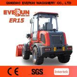 Everun cargador de la rueda del compacto de 1.5 toneladas pequeño con el Ce, motor EU3