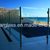 10 mm, 12 mm de vidrio templado cercado de la piscina con el CE, AS / NZS2208