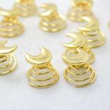 L'oro ha placcato le forcelle di spirale di turbinio delle bobine di torsioni della luna della stella impostate