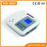 3 canaux électrocardiographe vétérinaire/Machine ECG (ECG-30AV)