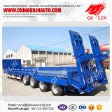Aanhangwagen van de Vrachtwagen van het Bed van vier Assen de Hydraulische Lage