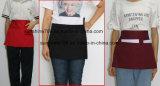 Restaurante en la cintura delantal de cocina con 3 bolsillos
