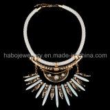 Collar de cuero Exotismo Estilo Piedra Bonebraided PU (XJW13590)