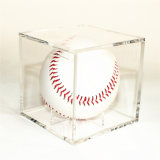 Personnaliser la boîte de présentation acrylique de base-ball de couleur transparente