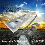 IP65 impermeabilizzano l'indicatore luminoso solare Integrated 25W della strada dell'indicatore luminoso di via del LED