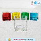 高品質の正方形のガラス蝋燭ホールダーの結婚式のセンターピース