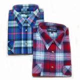Hombre de cuadros escoceses Camisa de vestir