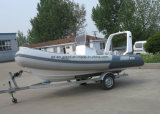 Aqualand 16feet 4.7mのガラス繊維の堅い外皮の膨脹可能なボートか肋骨の漁船(RIB470B)
