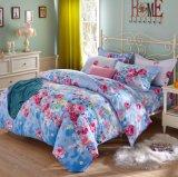 100%년 면 여왕과 특대 꽃 무늬 싼 면 침실 침구