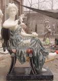 Figura scultura delle donne della statua di marmo di colore della miscela per la pietra del giardino (SY-C1004A)