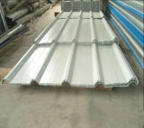 Colorear la hoja de acero acanalada cinc revestido del material para techos/la hoja del material para techos del metal