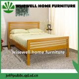 固体マツ木二色のダブル・ベッドデザイン家具(WJZ-B113)