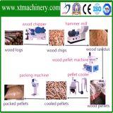 Taxa de forma de pelota de 98%, alta taxa de pressão Linha de produção de pellets de madeira