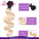 Ningún pelo humano chino de Ombre de Bodywave del pelo químico de la Virgen mejor