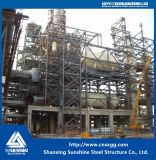 Costruzione della struttura d'acciaio con la trave di acciaio per industria chimica