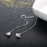 쉘 Eardrop 새로운 디자인 귀걸이를 가진 925 순은 Eiffer 탑 모양 펜던트