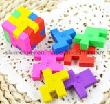 Cute 3D Magic Cube Puzzle Erasers / Rubber / Shape Eraser