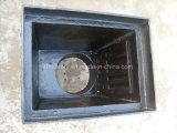 Tampa de câmara de visita resistente retangular da água do D.I. com frame na construção En124/1433/1563