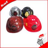 Шлем игрушки шлема пожарного полосы шлема промотирования пластичный