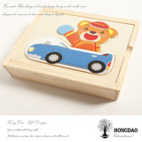 Hongdao caricatura personalizada caja de juguetes de madera con logotipo personalizado Wholesale _E