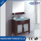 Cabinet de toilette simple en bois massif
