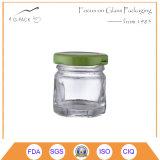 piccolo vaso di vetro 50ml con la protezione dell'aletta