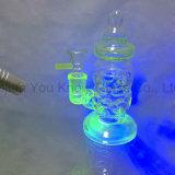 Vidrio fluorescente Tubos de agua para fumar Heady Glass Bubblers