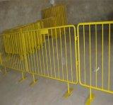 Barrière provisoire de contrôle de foule en métal d'enduit de poudre