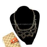 La joyería de moda Primavera 2013 Collar chapado en oro y cristal de las cadenas de aleación de zinc Ecológicos (PN-036)