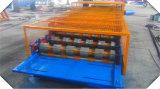 Três Camadas de coberturas metálicas portáteis a folha de aço frio Máquinas Formadoras de Rolo
