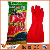 Перчатки латекса чистки резиновый перчаток домочадца длинние