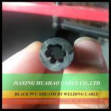 أسود PVC / NBR غمد النحاس موصل 16mm2 25mm2 35mm2 50mm2 70mm2 95mm2 120mm2 لحام الكابلات