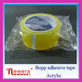 Bande adhésive blanche et claire de BOPP de cercle pour le cachetage de carton